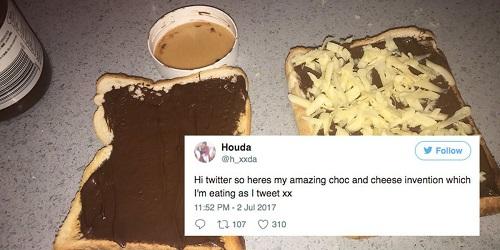 Twitter Houda tentang roti panggang kreasinya.(Mashable)