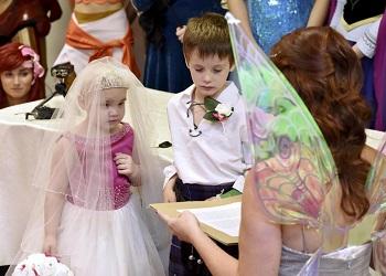 Saat upacara 'pernikahan'.(The Sun)
