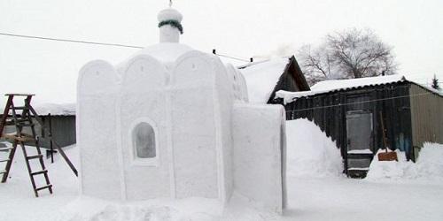 Kapel dari salju tampak dari luar.(Wonderful Engineering)