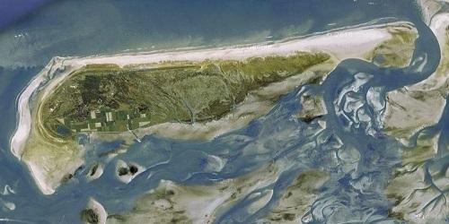 Schiermonnikoog dilihat dari atas.(Amusing Planet)