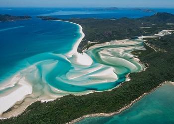 Pantai Whitehaven, Australia.(gslaviation.com.au)