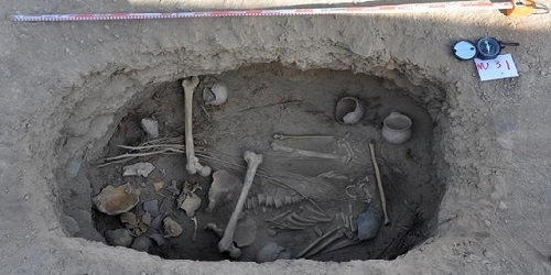 Pemakaman Jiayi, Turpan.(National Geographic)