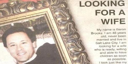 Baron Brooks dalam iklan di koran.(realclear)