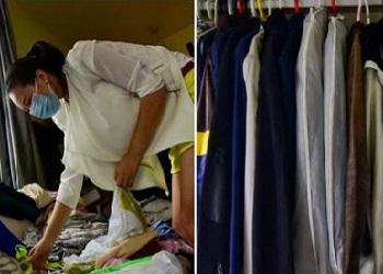 Deng saat merapikan baju.(huntnews)