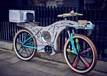 Sepeda dari 74 peralatan dapur.(boredpanda)