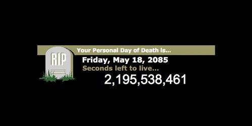 Website Death Timer.(CBC)