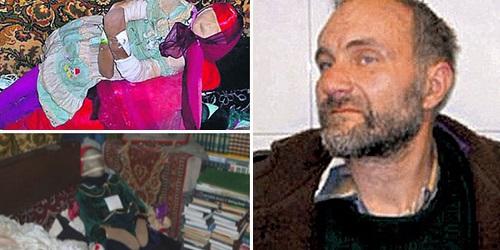 Moskvin (kanan) & sebagian koleksinya.(mirror.co.uk)