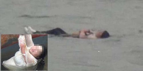 Tubuh wanita itu justru mengapung saat terjun ke sungai.(Wereblog)