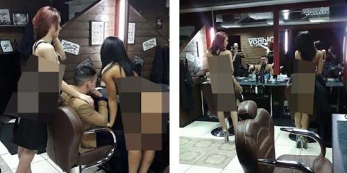 Tukang cukur wanita di Salon Old Bay.(mirror.co.uk)