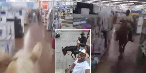 Aksi koboi kesasar yang terekam kamera.(bmnews.one)
