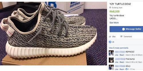 Sneakers Yeezy yang ingin dibeli.(says.com)