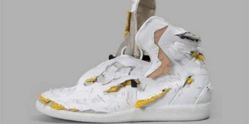 Sepatu robek yang berharga belasan juta.(Dream)