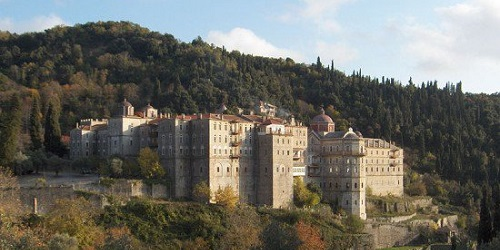 Biara di Gunung Athos.(Odditycentral)