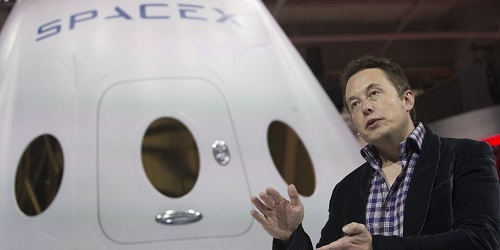 Elon Musk, CEO SpaceX, saat acara launching.(Business Insider)