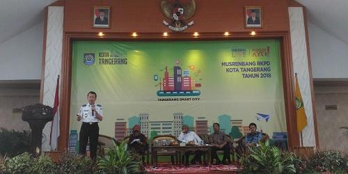 Soeharto saat acara diskusi Musrenbang RKPD Kota Tangerang.(tia)