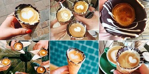 Coffee in a Cone.(thelinkfm.com)