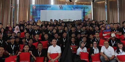 Perwakilan Sinar Mas Land, Autodesk, & komunitas AutoCAD Indonesia.(asri)