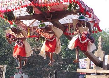 Festival Garudan Thookkam, Kerala.(bbs)