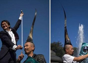 Kazuhiro Watanabe Mohawk tertinggi di dunia.(bbs)