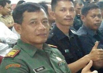 Danramil Ciputat, Kapten Infantri Supardi.(cep)