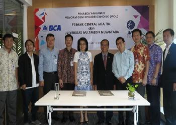 Kerjasama BCA dan UMN.(asri)
