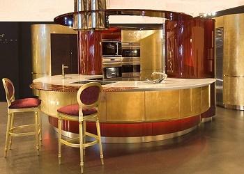 Dapur emas Marazzi Design.(dailymail)
