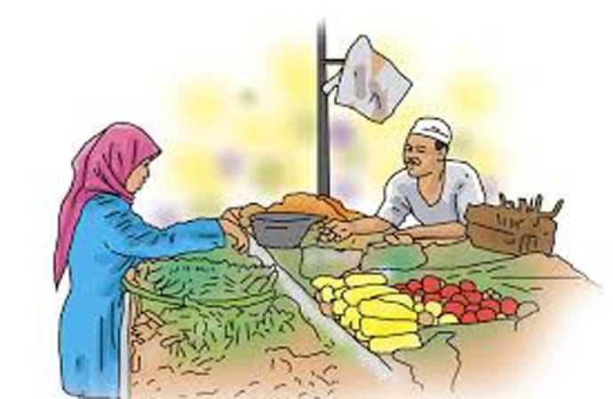 Ilustrasi pasar tradisional.(bbs) | Kabar6.com